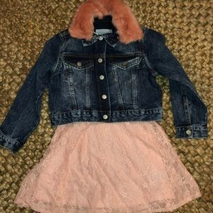 💕 NWT Gymboree & Epic Threads denim & lace Dress